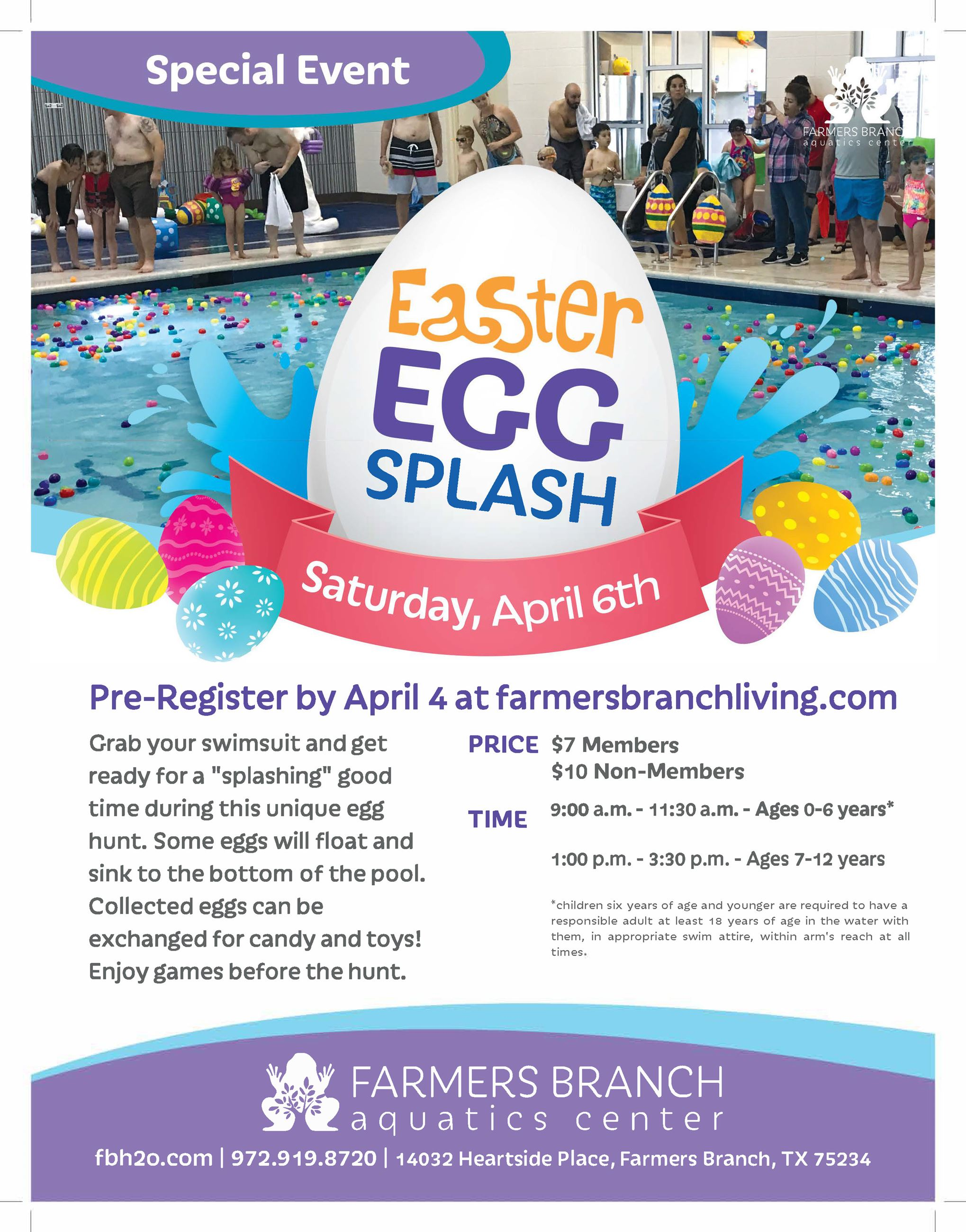 Aquatics Easter Egg Splash 2019
